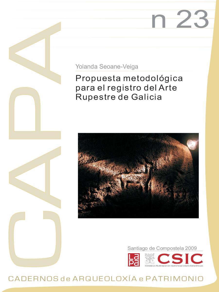 Image of: Propuesta Metodológica para el Registro del Arte Rupestre de Galicia
