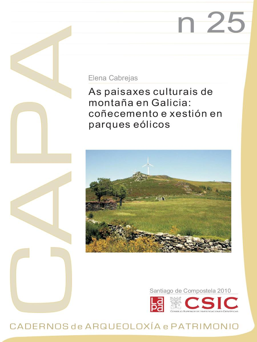 Image of: As Paisaxes Culturais de Montaña en Galicia: Coñecemento e Xestión en Parques Eólicos