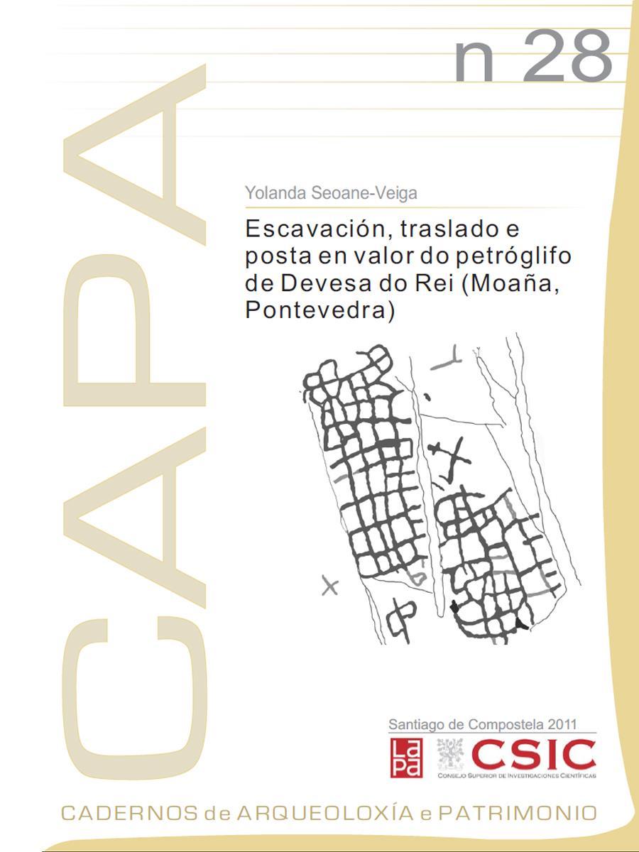 Image of: Escavación, traslado e posta en valor do petróglifo de Devesa do Rei (Moaña, Pontevedra)