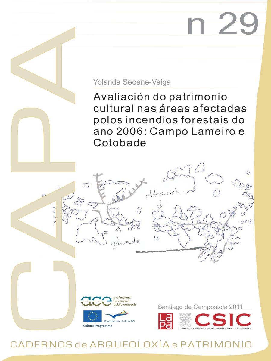 Image of: Avaliación do patrimonio cultural nas áreas afectadas polos incendios forestais do ano 2006: Campo Lameiro e Cotobade